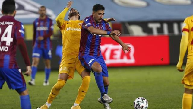 Trabzonspor drew 1-1 with Kayserispor in the 33rd week of Süper Toto Super League.