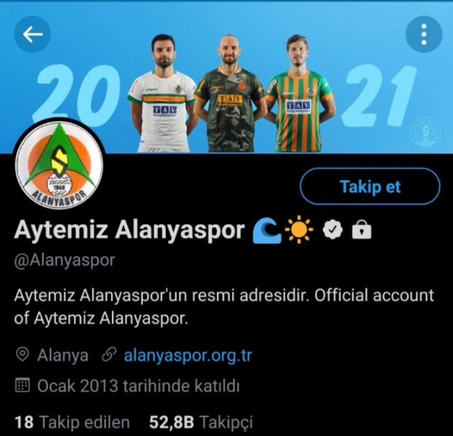 Alanyaspor protected its social media account after the match!
