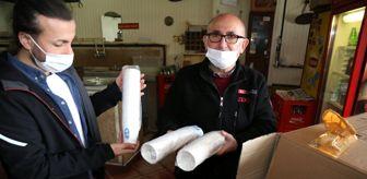 Eyüpsultan Belediyesi: Eyüpsultan Belediyesi kıraathanelere karton bardak dağıtıyor