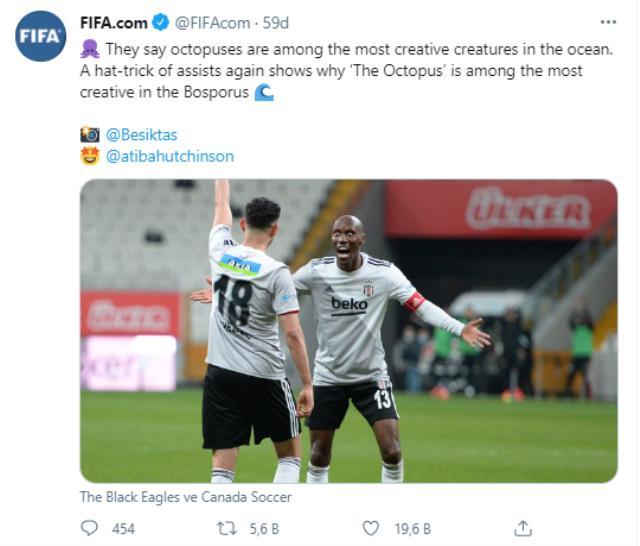 FIFA, Beşiktaş'ın futbolcusuna 'Ahtapot' benzetmesi yaptı