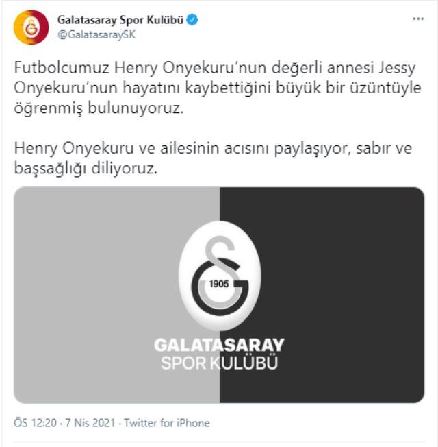 Galatasaray'ın Nijeryalı yıldızı Henry Onyekuru'nun annesi hayatını kaybetti