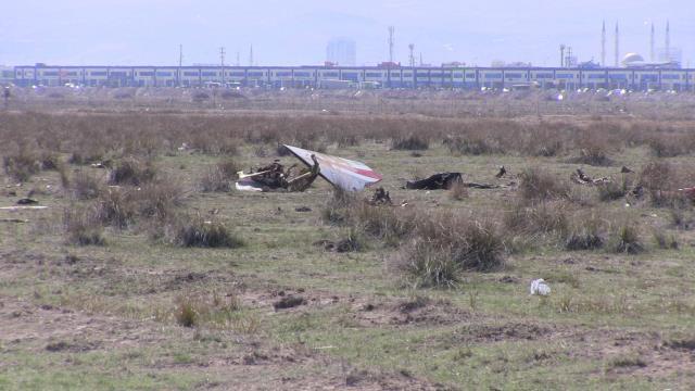 Konya'da uçağın düşme anına ait görüntüler ortaya çıktı