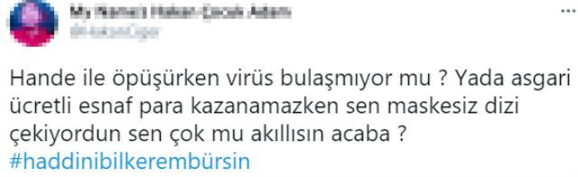 Maske takmayanlara 'Salak' diyen Kerem Bürsin'e tepkiler çığ gibi büyüyor