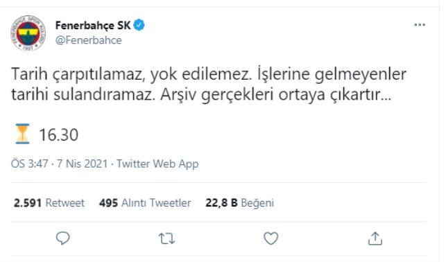 Mustafa Cengiz'e Fenerbahçe'den jet cevap: 'Saat 16.30'da arşivi açıyoruz'