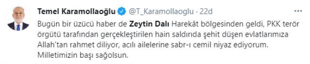 Son Dakika: Zeytin Dalı Harekatı bölgesindeki terör saldırısında 2 askerimiz şehit oldu