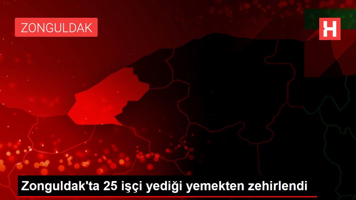 Zonguldak'ta 25 işçi yediği yemekten zehirlendi