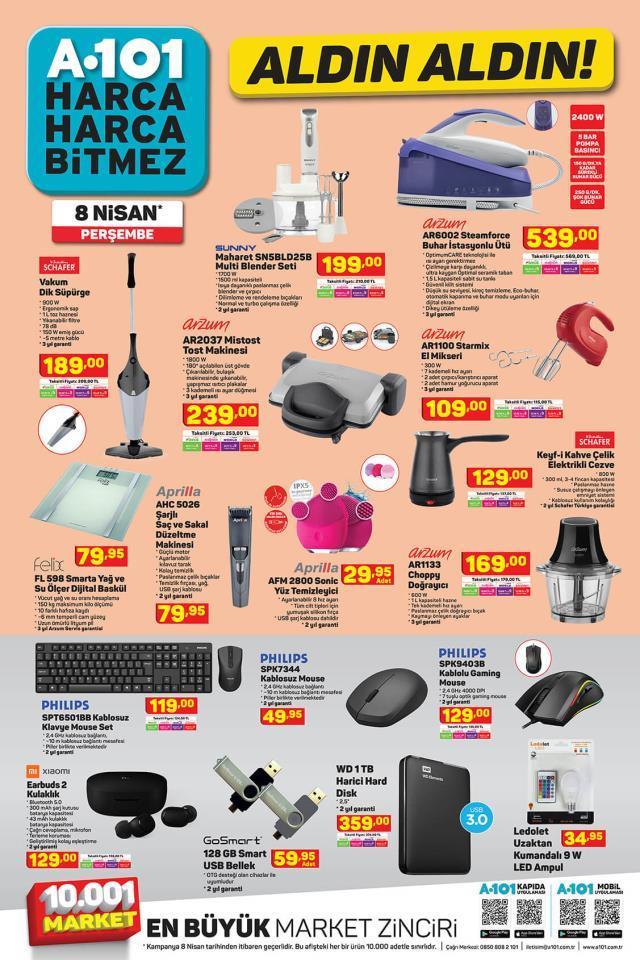A101 8 Nisan Aldın Aldın | A 101 Aldın Aldın 2021! A101 aktüel ürün listesi kataloğunda neler var?
