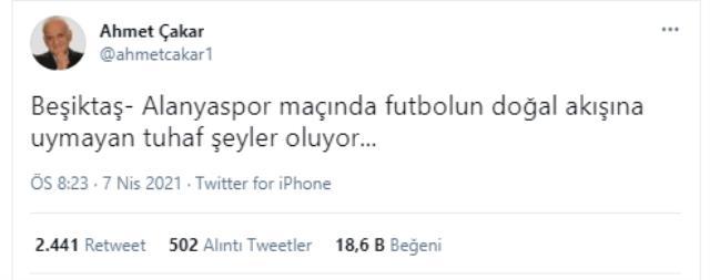 Ahmet Çakar was on trial with Beşiktaş again