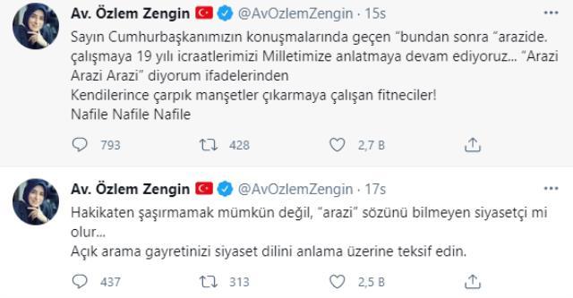 Erdoğan'ın konuşmasından yaptığı paylaşım ortalığı karıştırdı! Özlem Zengin, fena patladı