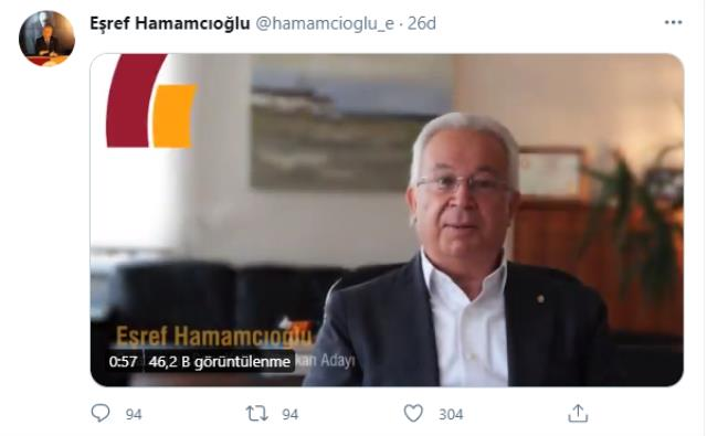 Last Minute: Eşref Hamamcıoğlu officially nominated for the presidency of Galatasaray Club