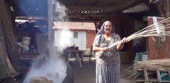 Biga İlçesi: ÇANAKKALE - 40 yıldır örme sepet üreten kadın siparişlere yetişemiyor