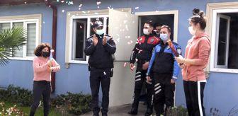 Kocaeli Büyükşehir Belediyesi: Olay ihbarına giden polislere özel öğrencilerden sürpriz
