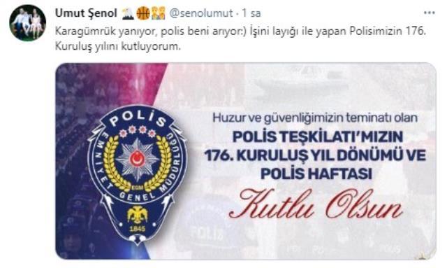 Beşiktaşlı yöneticiden olay paylaşım! Polis haftası üzerinden G.Saray'a ilginç gönderme