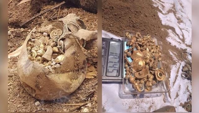 Ev inşaatı için yapılan kazıdan içi altın ve gümüş dolu çömlek çıktı