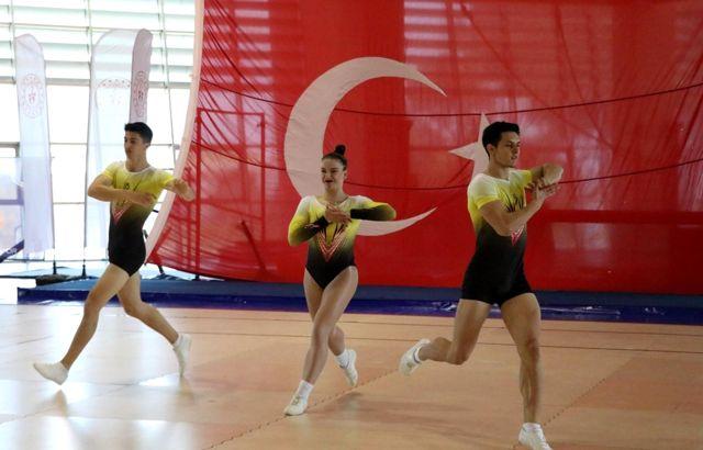 Manisa'da düzenlenen Aerobik Cimnastik Türkiye Şampiyonası sona erdi