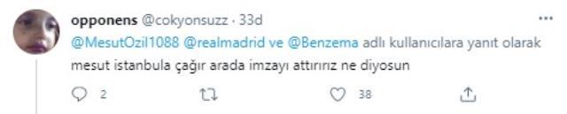 Mesut'un Benzema paylaşımını, F.Bahçeli taraftarlar çok farklı yorumladı: Fener'e geliyor