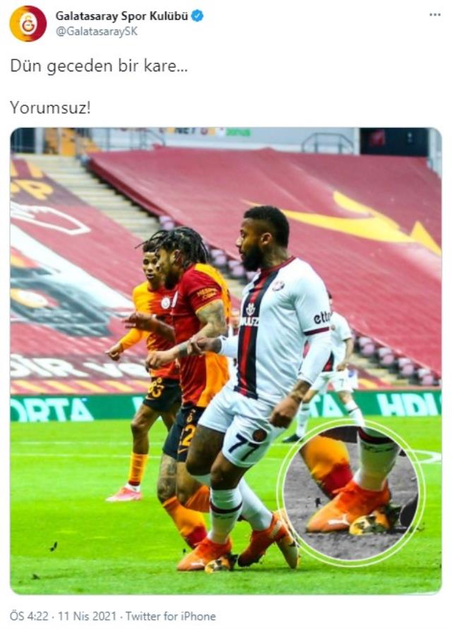 Yedlin sharing from Galatasaray: A photo from last night, without comment