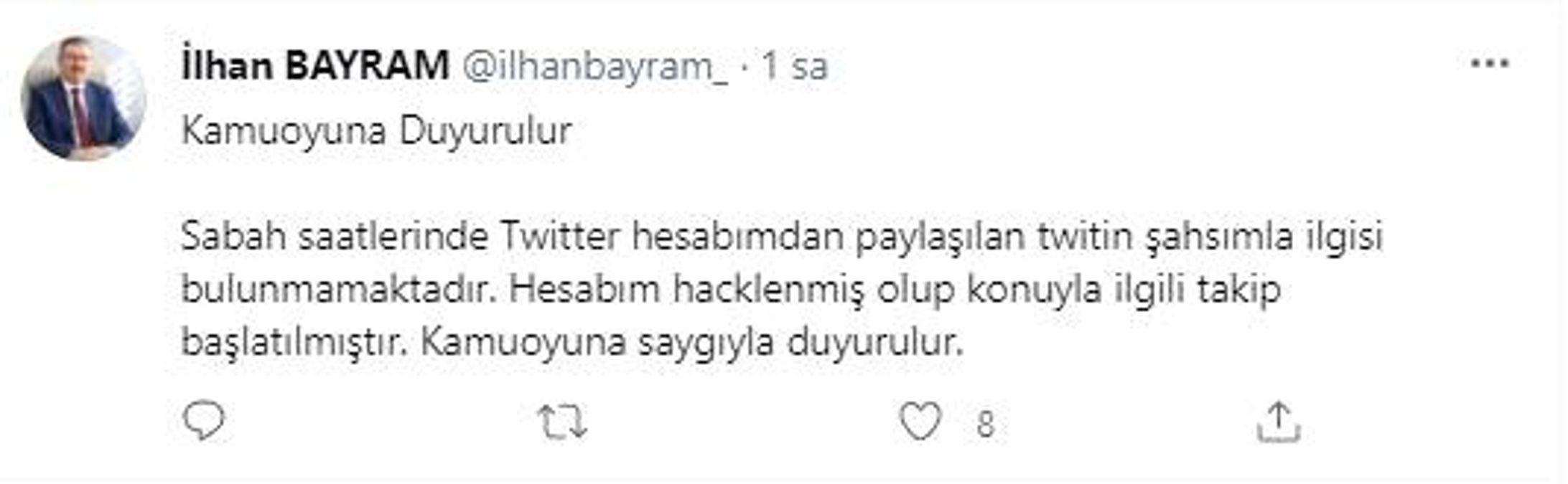 Genel Sekreter Bayram'ın sosyal medya hesabına saldırı