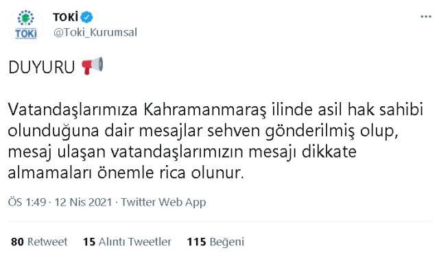 TOKİ Kahramanmaraş Dulkadiroğlu 624 konut kura sonuçları açıklandı! 2+1 ve 3+1 kimlere çıktı? Hangi isimlere kura çıktı?