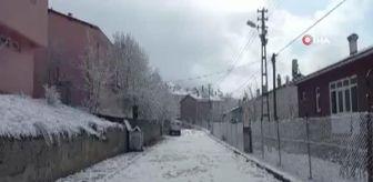 Tunceli Valiliği: Tunceli'ye kış geri geldi, kar yağdı