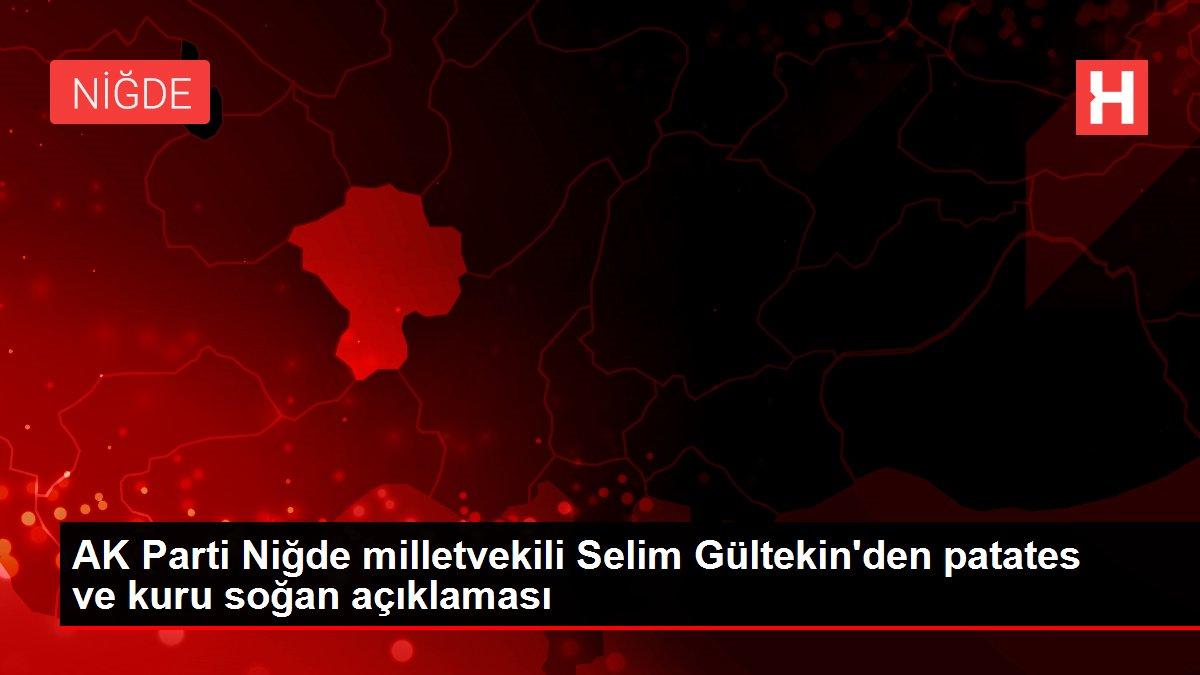 AK Parti Niğde milletvekili Selim Gültekin'den patates ve kuru soğan açıklaması