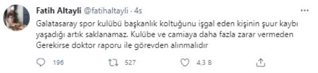Very harsh words from Fatih Altaylı to Mustafa Cengiz: If necessary, he should be dismissed with a doctor's report.
