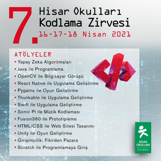 'Hisar Coding Summit' for the 7th time on April 16-18, 2021 from Hisar Schools on April 14, 2021