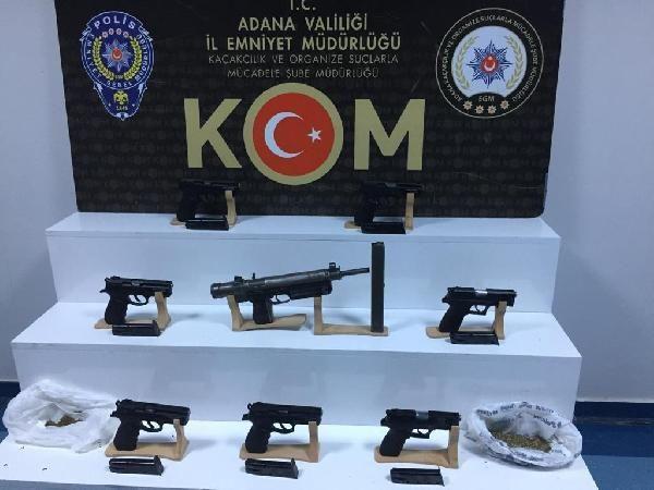 Adana'da, silah ve mühimmat kaçakçılığı şüphelileri adliyede