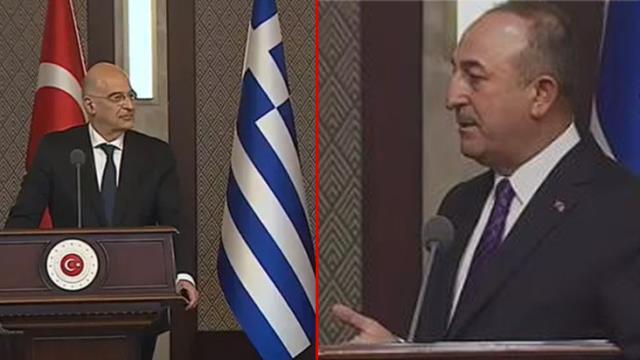 Son Dakika: Yunan Bakan Dendias'ın skandal suçlamaları Bakan Çavuşoğlu'nu sinirlendirdi! Yüzüne dönüp saydırdı