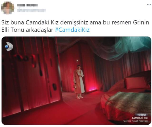 Camdaki Kız dizisindeki kırmızı oda sahnesi Grinin Elli Tonu filmine benzetilince Twitter'da gündem oldu