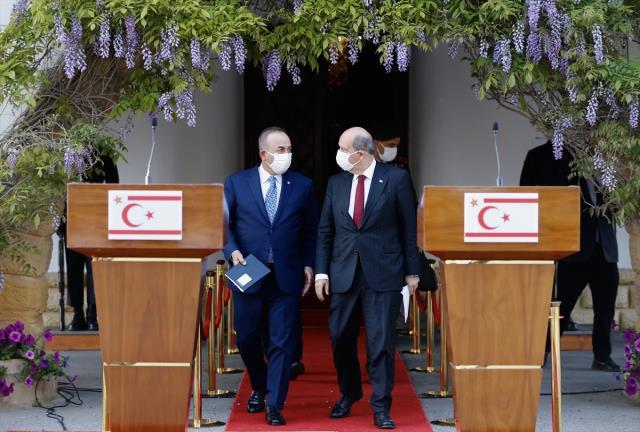 Çavuşoğlu'nun Yunan bakana yanıtına KKTC Cumhurbaşkanı Tatar'dan destek: 'Bravo sayın bakanımız' dedik