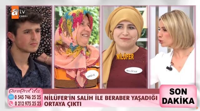 İkinci kez evli adama kaçan Nilüfer, Esra Erol'un stüdyosunda annesine saldırdı