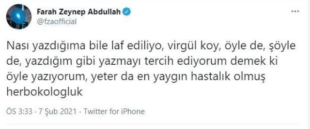 Takipçilerini ti'ye alan Farah Zeynep Abdullah'a tepki yağdı
