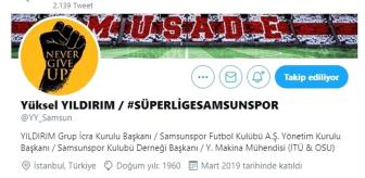 Kerem Can: Başkan Yıldırım: 'Samsunspor'un itibarı kırmızı çizgimiz ve namusumuzdur'