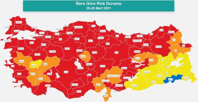 İl il koronavirüs vaka sayıları kaçtır? 10-16 Nisan İl il koronavirüs risk haritası ve haftalık vaka sayıları açıklandı mı?