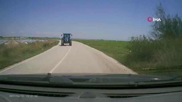Karşı yönden gelen traktör aracını biçti, kaza sonrası öldüresiye dayak yedi