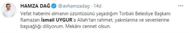 Torbalı Belediye Başkanı Ramazan İsmail Uygur hayatını kaybetti