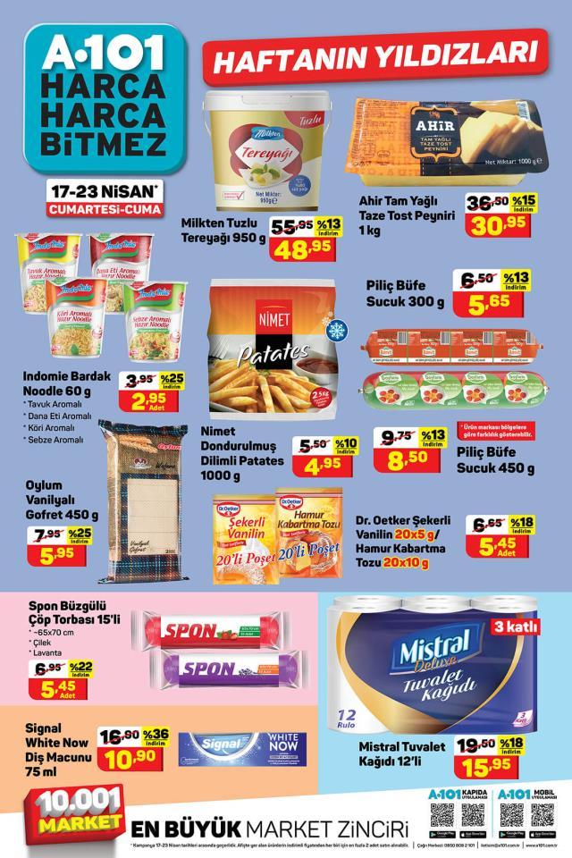 A101, 17 - 23 Nisan Haftanın Yıldızları Kasım Perşembe indirimli ürünler kataloğunu yayınladı