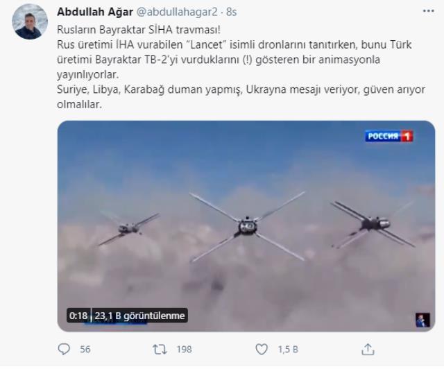 Büyük travma! Ruslar Türk SİHA'larını böyle vurdu ama yalnızca animasyonda