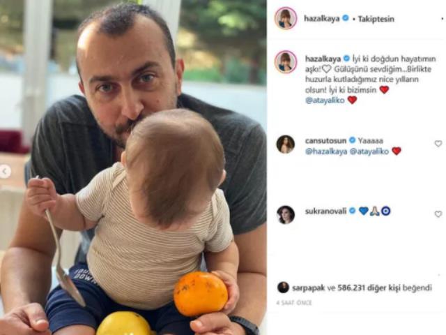 Ali Atay'ın doğum gününü kutlayan Hazal Kaya'dan romantik sözler