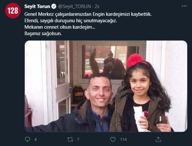 CHP Genel Merkezi personeli Engin Gündüz, kalp krizinden hayatını kaybetti