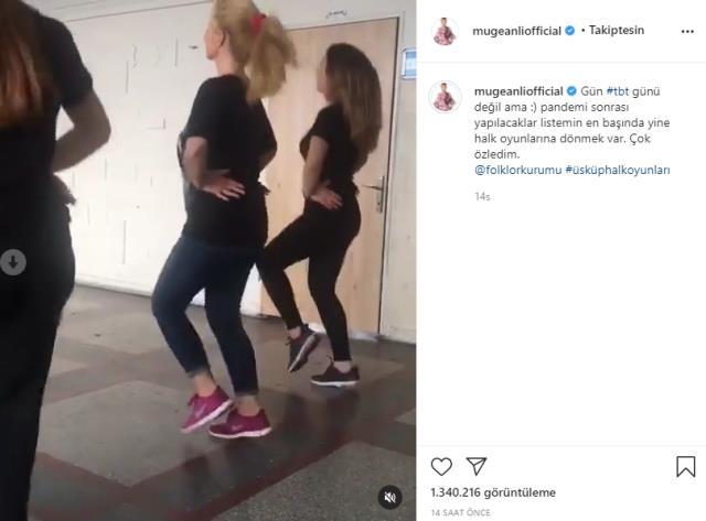 Instagram'a hızlı bir giriş yapan Müge Anlı, halk oyunları oynadığı videosunu yayınladı
