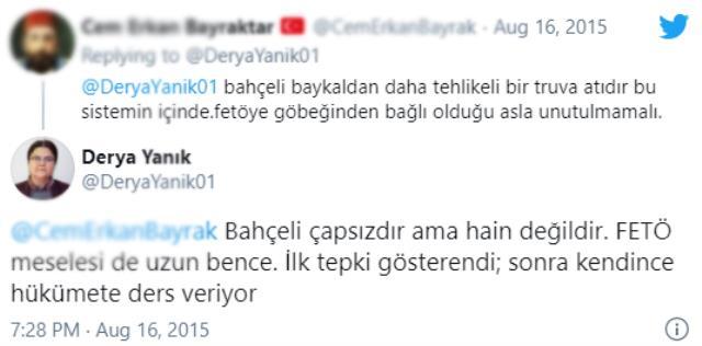 Aile Bakanlığı'na atanan Derya Yanık'ın Bahçeli için kullandığı ifade MHP'lileri kızdıracak