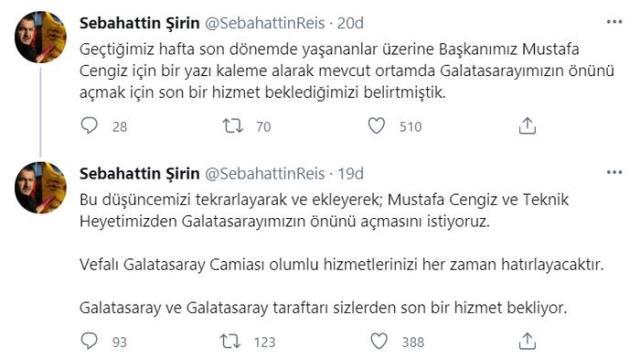 Galatasaray'ın etkili taraftar grubu ultrAslan'ın lideri Sebahattin Şirin'den Fatih Terim'e istifa çağrısı