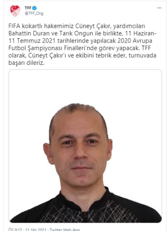 The photo used by TFF to congratulate Cüneyt Çakır was mocked: Did you stick it with Prittle!