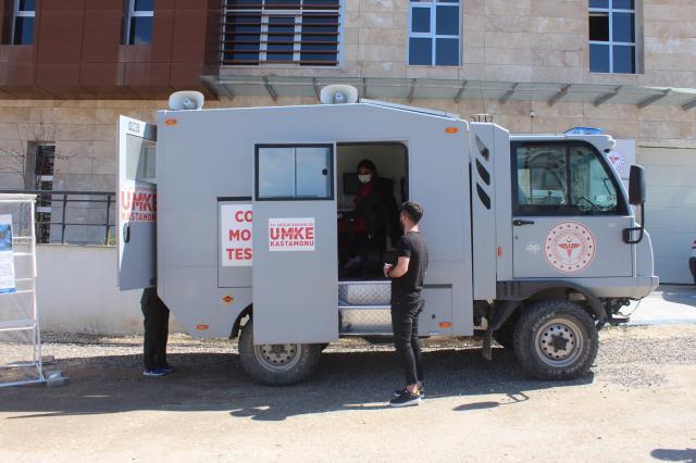 Vakaların arttığı Kastamonu'da, mobil PCR test aracı kullanımına başlandı