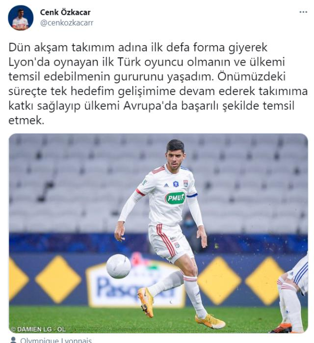 Turkish stopper Cenk, who played his first match in Lyon, impressed himself in a short time, 'New Chiellini' comments were made