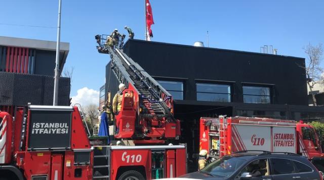 Nusret'in Etiler'deki dükkanında yangın paniği