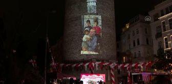 23 Nisan Ulusal Egemenlik Ve Çocuk Bayramı: Galata Kulesi'nde 23 Nisan'a özel video mapping gösterisi