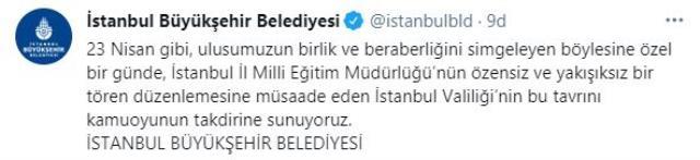 İstanbul Valiliği, İmamoğlu'nun 23 Nisan sözlerine tepki gösterdi! İBB'den yanıt gecikmedi